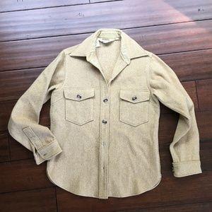 Vintage Woolrich - wool button work shirt